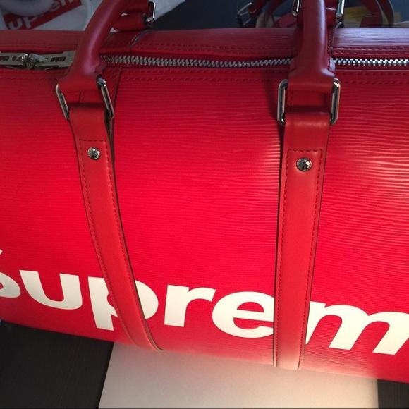 aed81a206e10 supreme x Louis Vuitton Bags